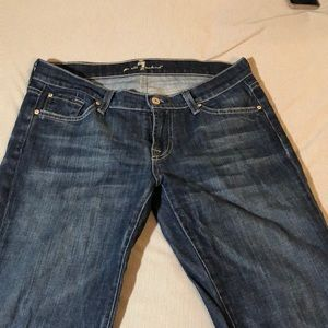7 for all man kind women's jeans size 30 bootcut!